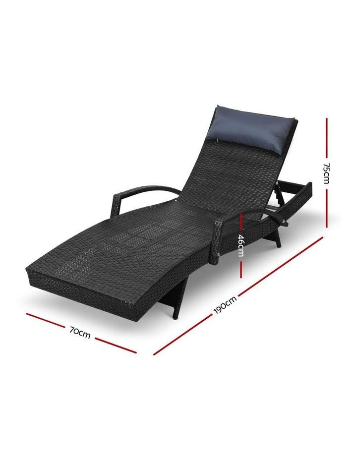 Outdoor Sun Lounge Sofa Furniture Wicker Patio image 2
