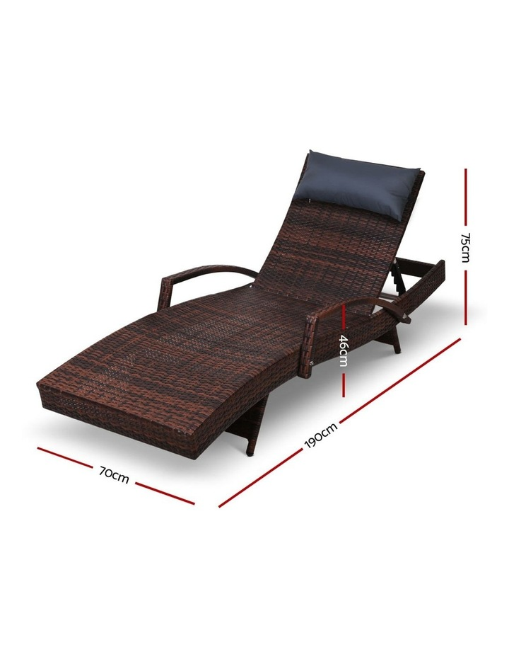 Outdoor Sun Lounge Sofa Furniture Patio image 2