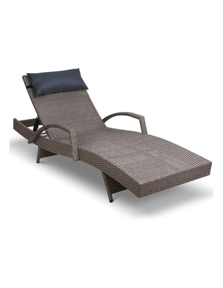 Outdoor Sun Lounge Sofa Furniture Wicker Patio image 1