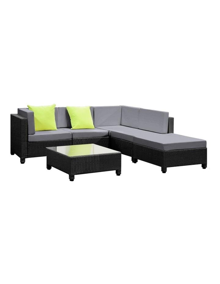 6 Piece Outdoor Wicker Sofa Set image 1
