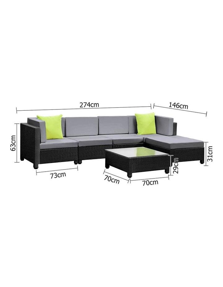 6 Piece Outdoor Wicker Sofa Set image 6
