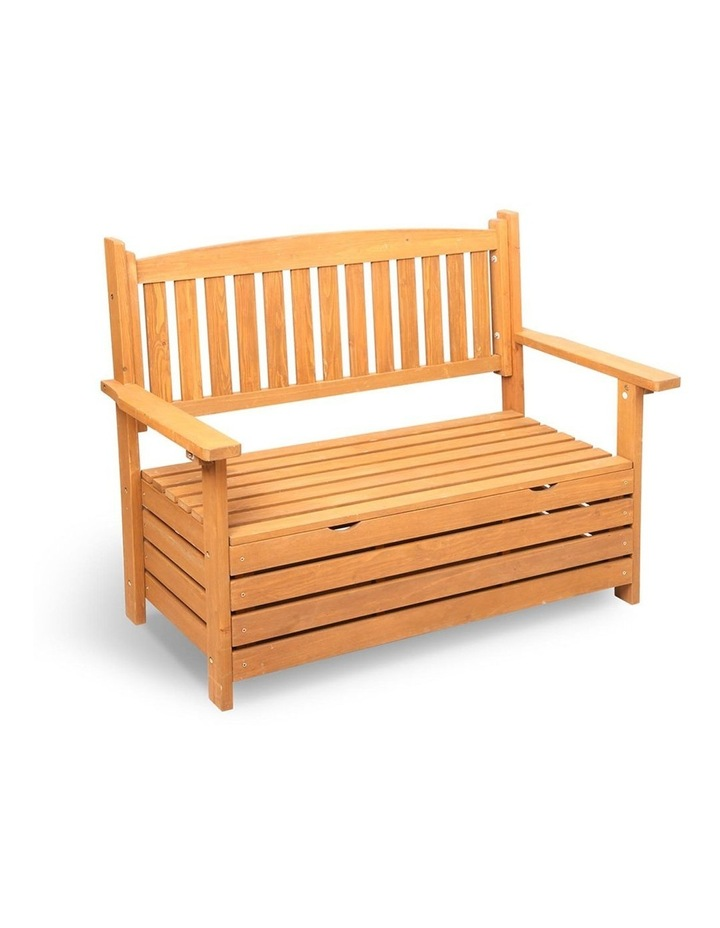 2 Seat Wooden Outdoor Storage Bench image 1