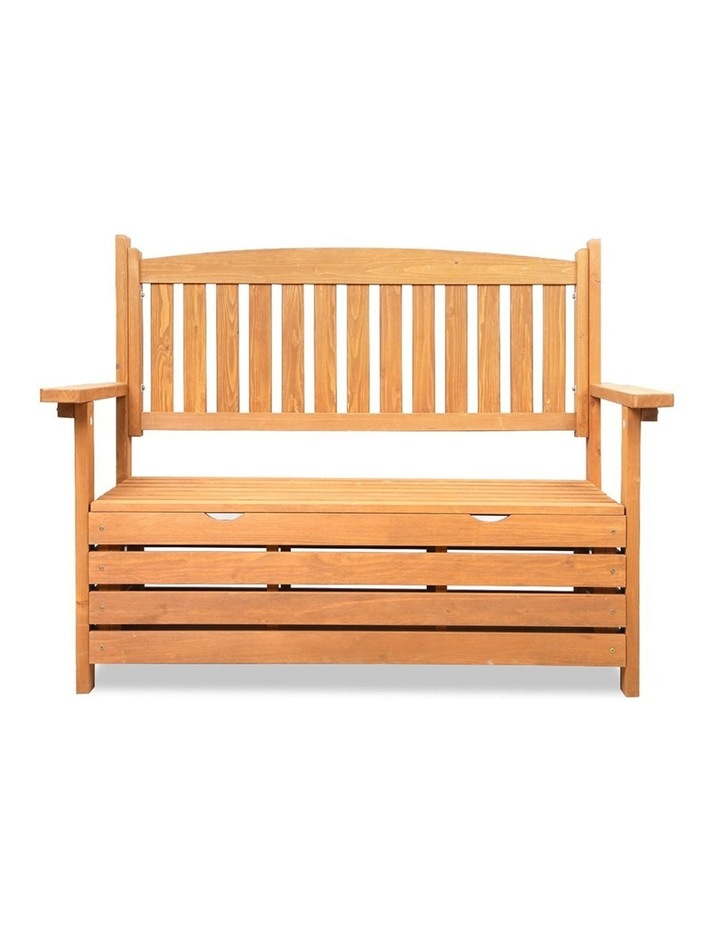 2 Seat Wooden Outdoor Storage Bench image 4