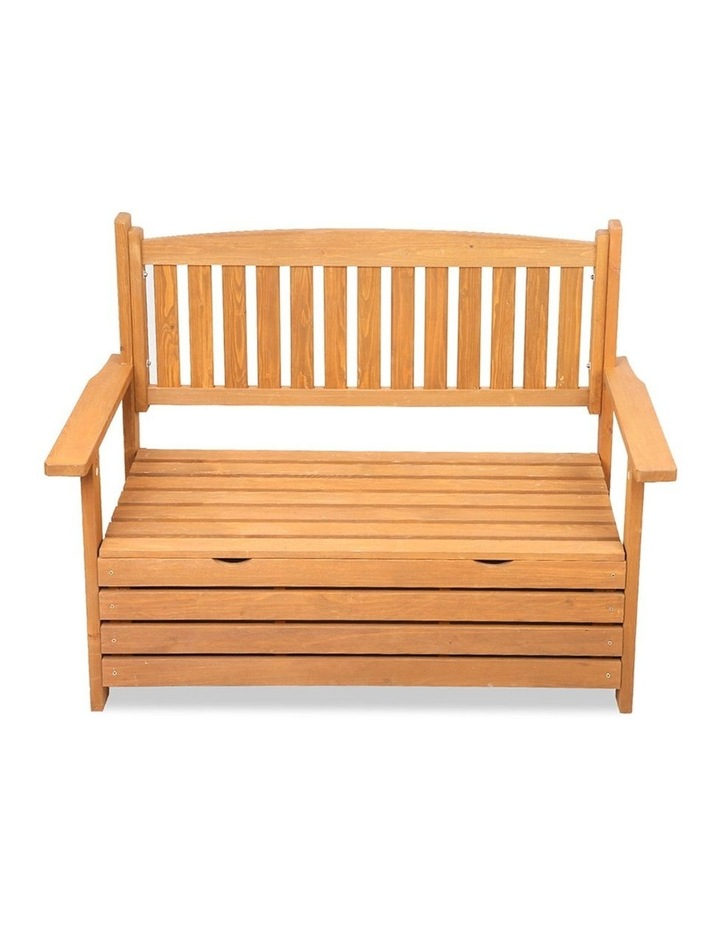 2 Seat Wooden Outdoor Storage Bench image 5