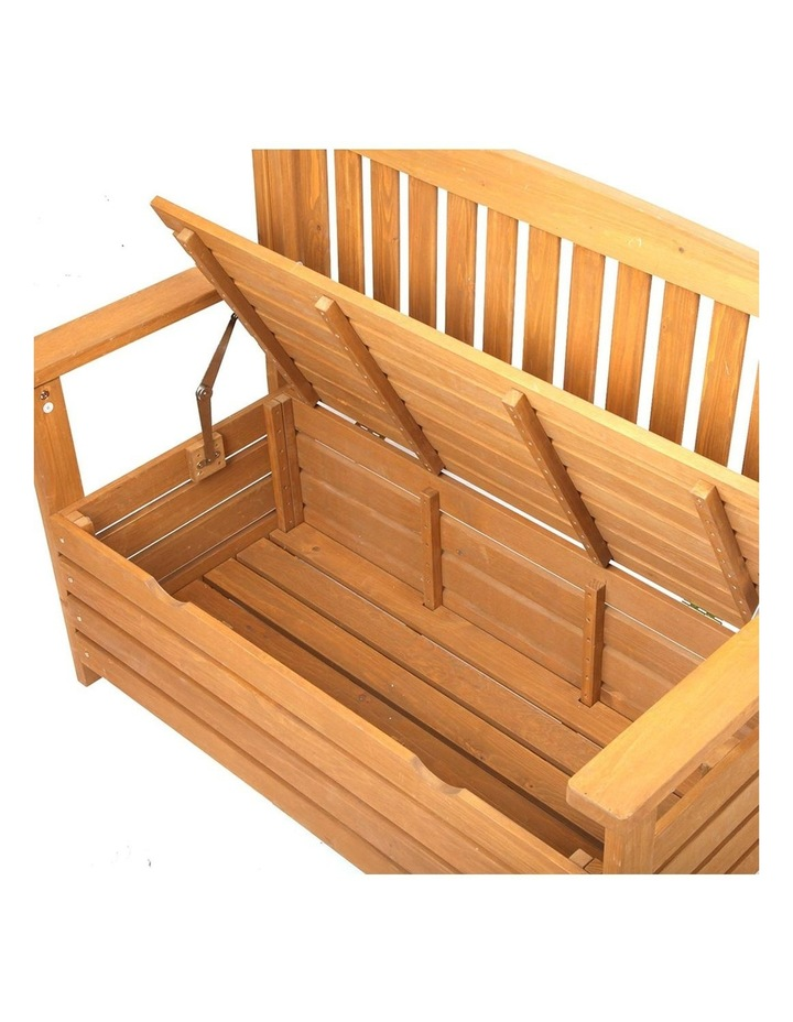 2 Seat Wooden Outdoor Storage Bench image 6