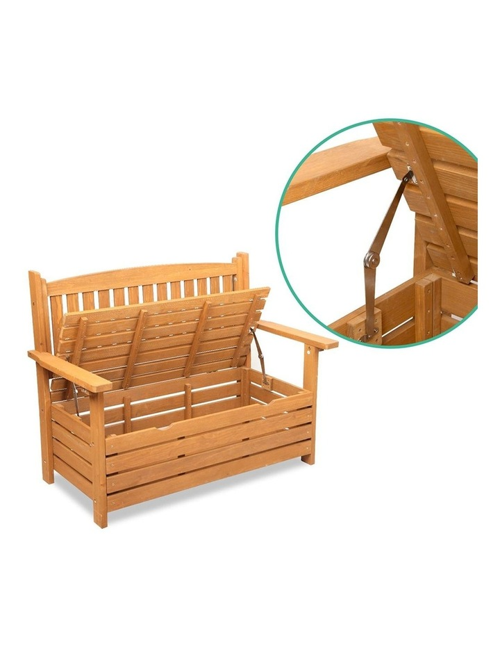 2 Seat Wooden Outdoor Storage Bench image 7