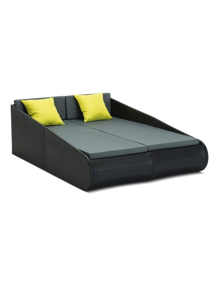 2 Seat PE Wicker Sun Lounge Daybed image 1