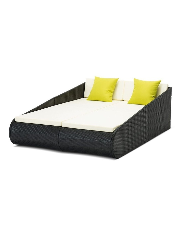 2 Seat PE Wicker Sun Lounge Daybed image 3