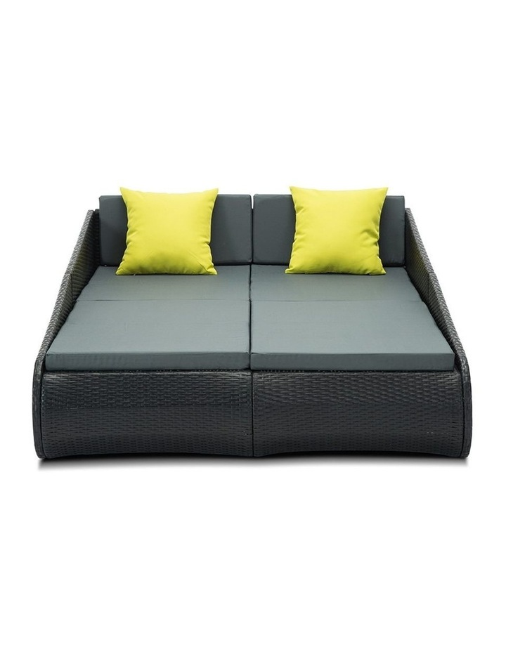 2 Seat PE Wicker Sun Lounge Daybed image 5