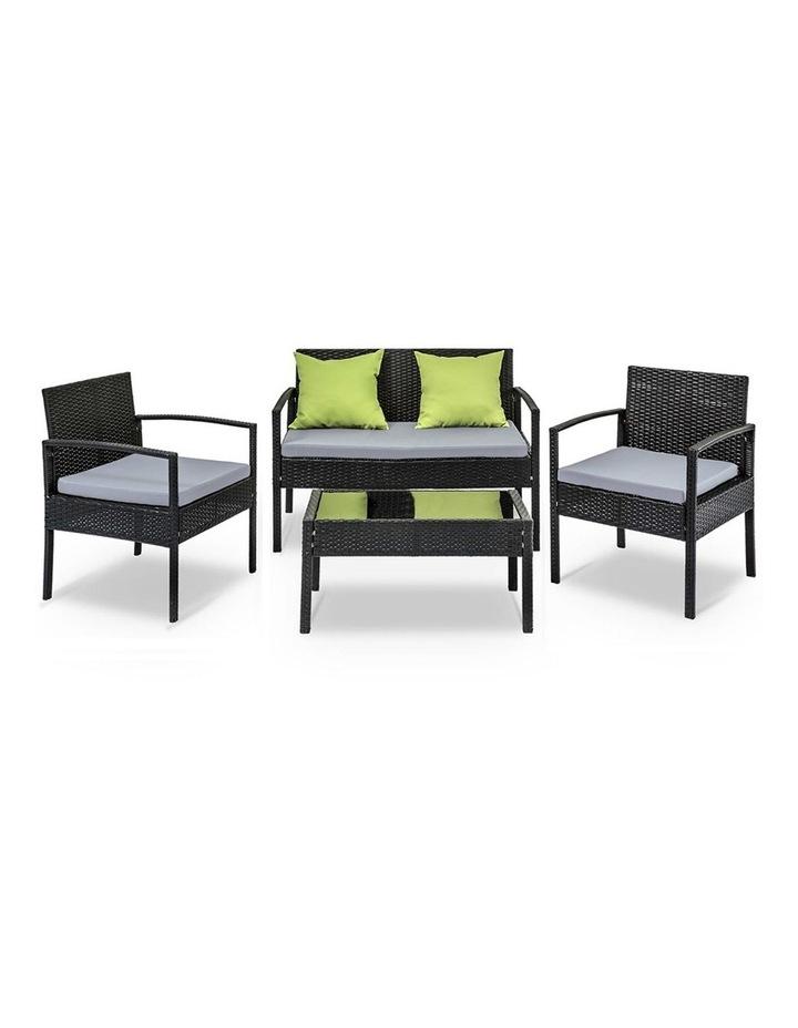 4 Piece Outdoor Wicker Furniture Set image 2