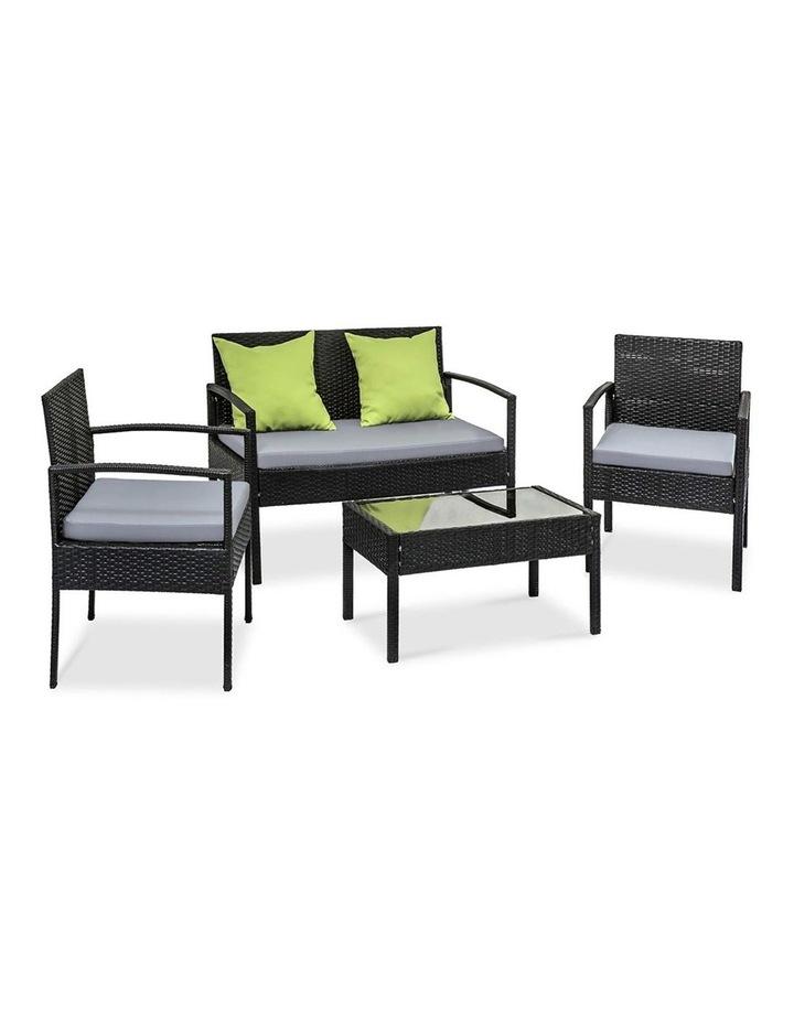 4 Piece Outdoor Wicker Furniture Set image 4