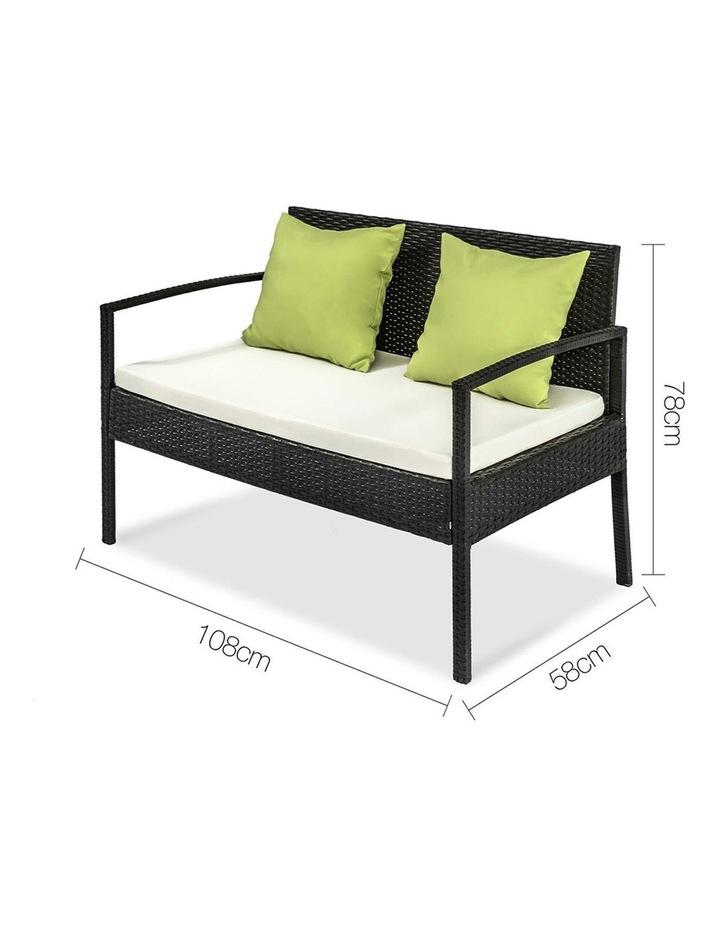 4 Piece Outdoor Wicker Furniture Set image 6