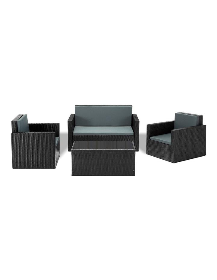 4 Piece Outdoor Wicker Furniture Set image 1