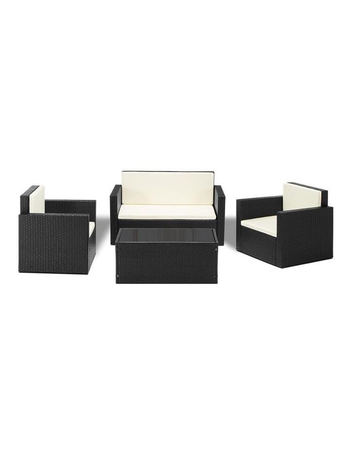 4 Piece Outdoor Wicker Furniture Set image 5