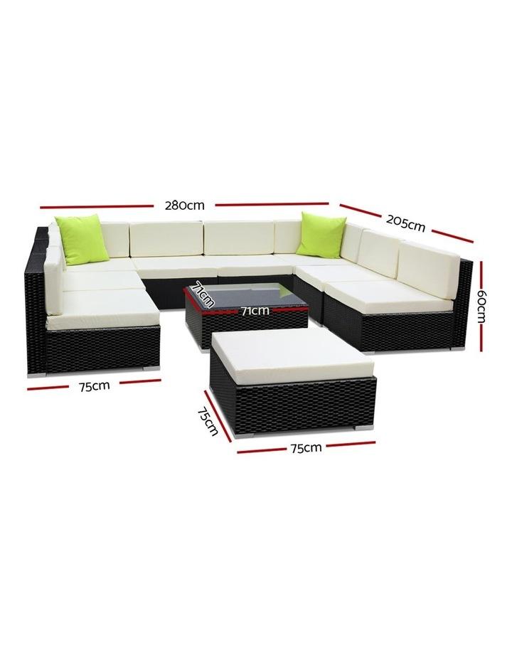 10 Piece Outdoor Furniture Set Wicker Sofa Lounge image 2