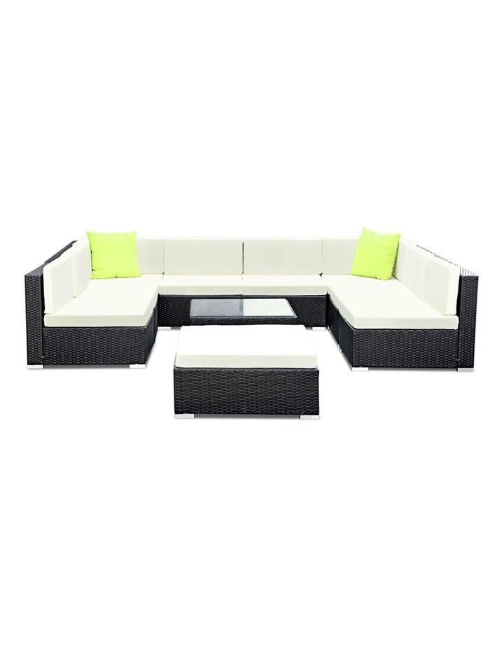 10 Piece Outdoor Furniture Set Wicker Sofa Lounge image 3