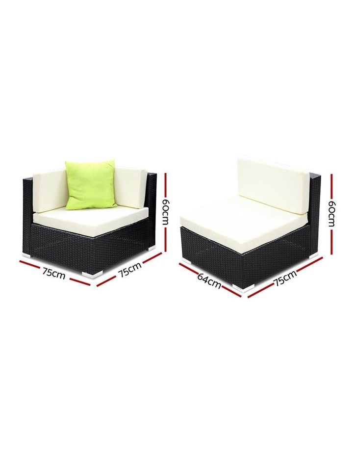 10 Piece Outdoor Furniture Set Wicker Sofa Lounge image 5