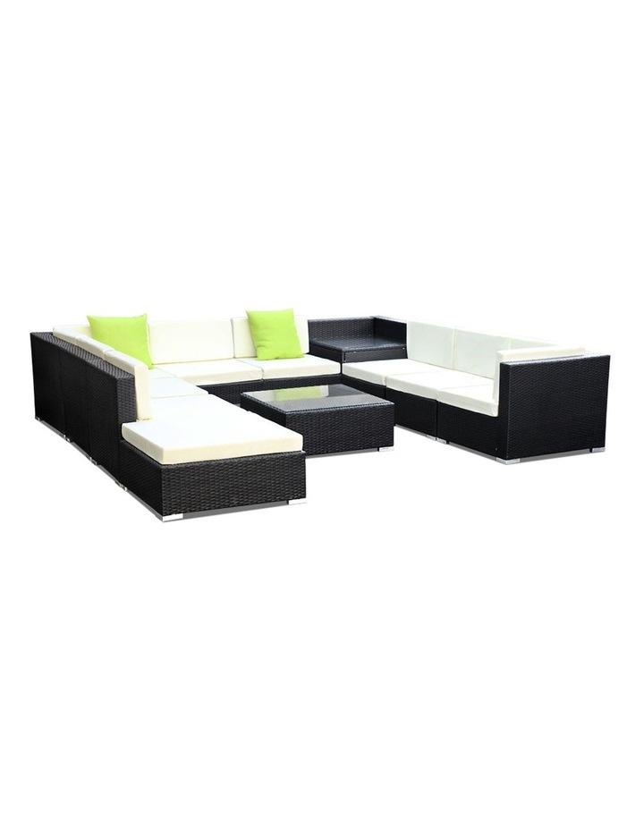 11 Piece Outdoor Furniture Set Wicker Sofa Lounge image 1