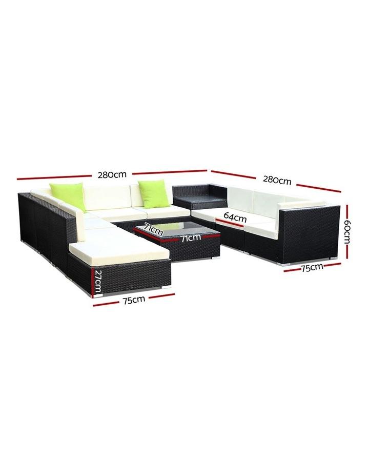 11 Piece Outdoor Furniture Set Wicker Sofa Lounge image 2