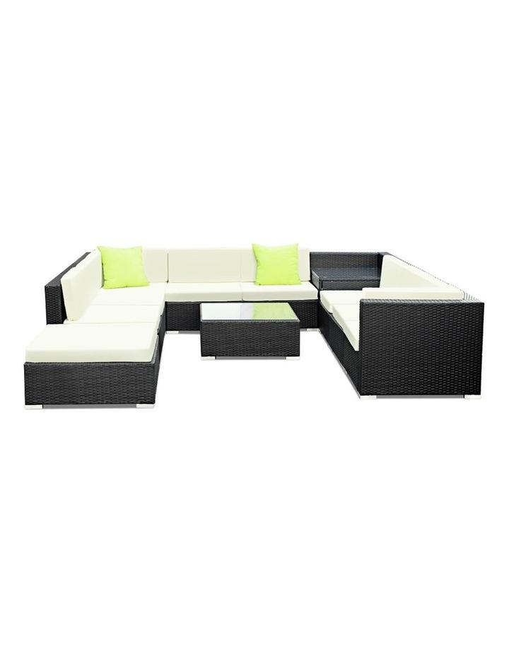 11 Piece Outdoor Furniture Set Wicker Sofa Lounge image 3