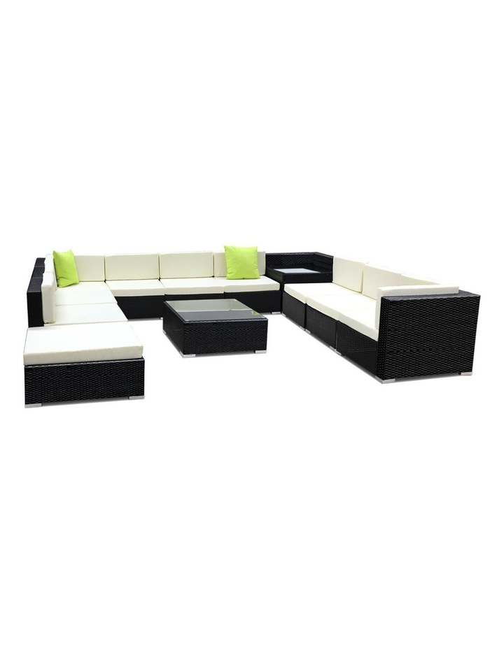 12 Piece Outdoor Furniture Set Wicker Sofa Lounge image 1
