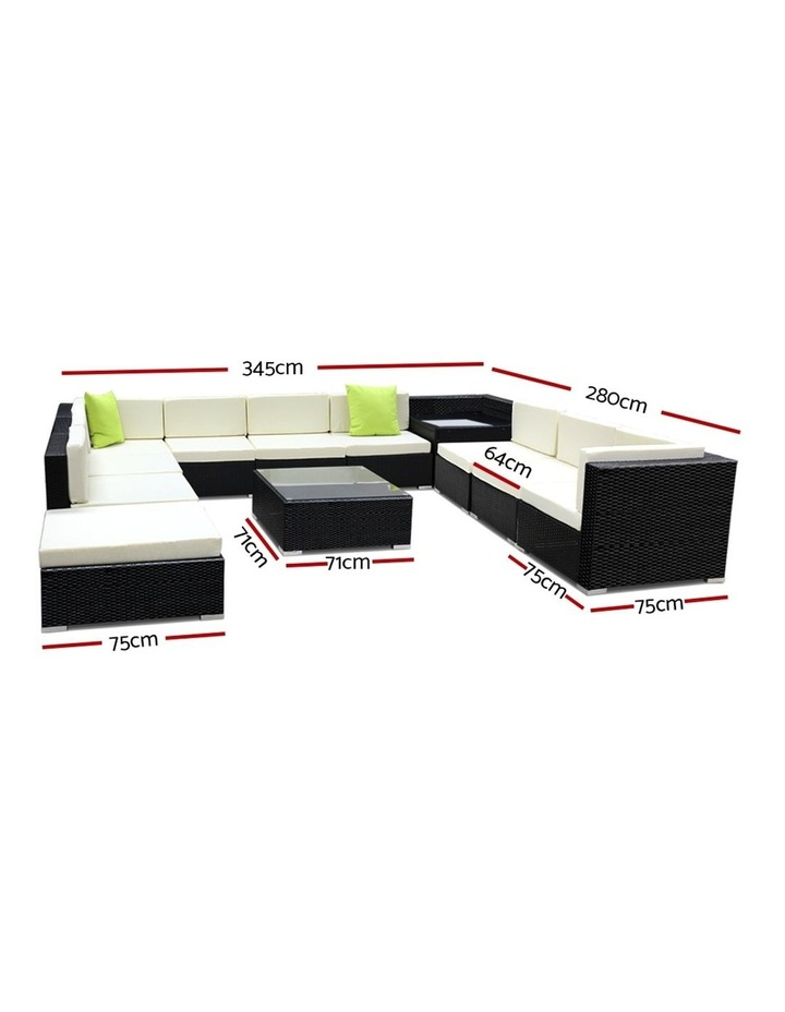 12 Piece Outdoor Furniture Set Wicker Sofa Lounge image 2