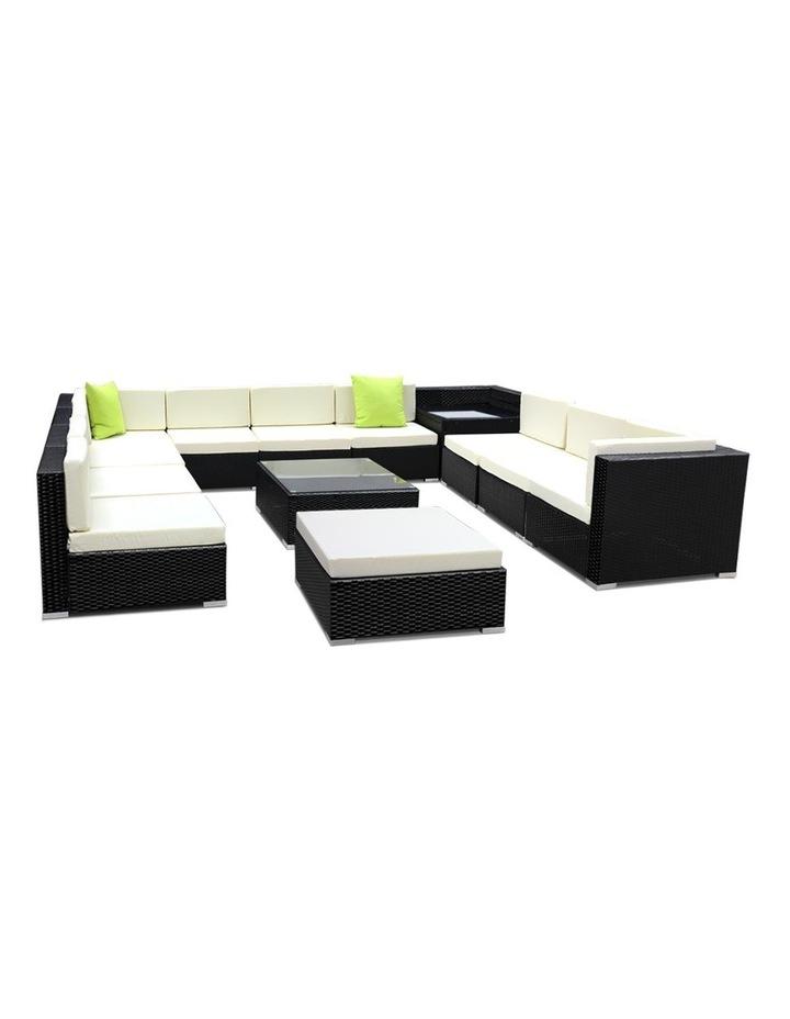 13 Piece Outdoor Furniture Set Wicker Sofa Lounge image 1