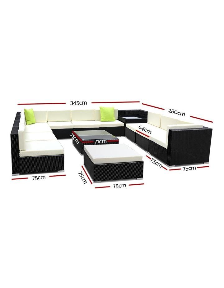 13 Piece Outdoor Furniture Set Wicker Sofa Lounge image 2