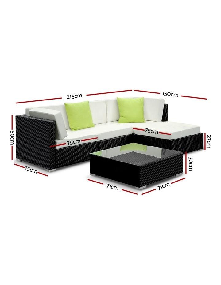 5 Piece Outdoor Furniture Set Wicker Sofa Lounge image 2