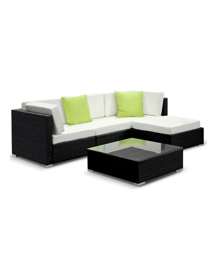 5 Piece Outdoor Furniture Set Wicker Sofa Lounge image 1