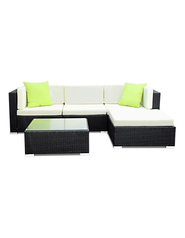 5 Piece Outdoor Furniture Set Wicker Sofa Lounge image 3