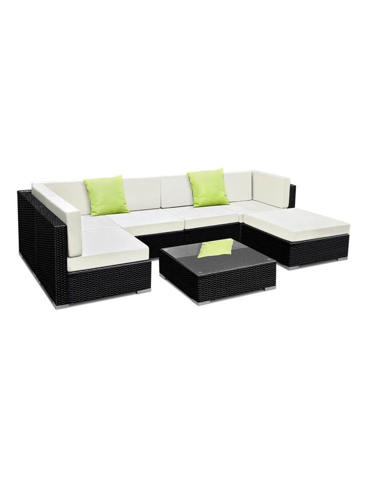 7 Piece Outdoor Furniture Set Wicker Sofa Lounge image 1