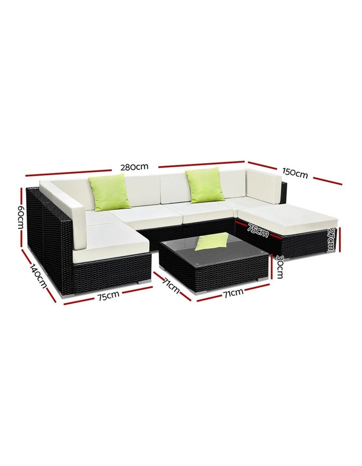 7 Piece Outdoor Furniture Set Wicker Sofa Lounge image 2