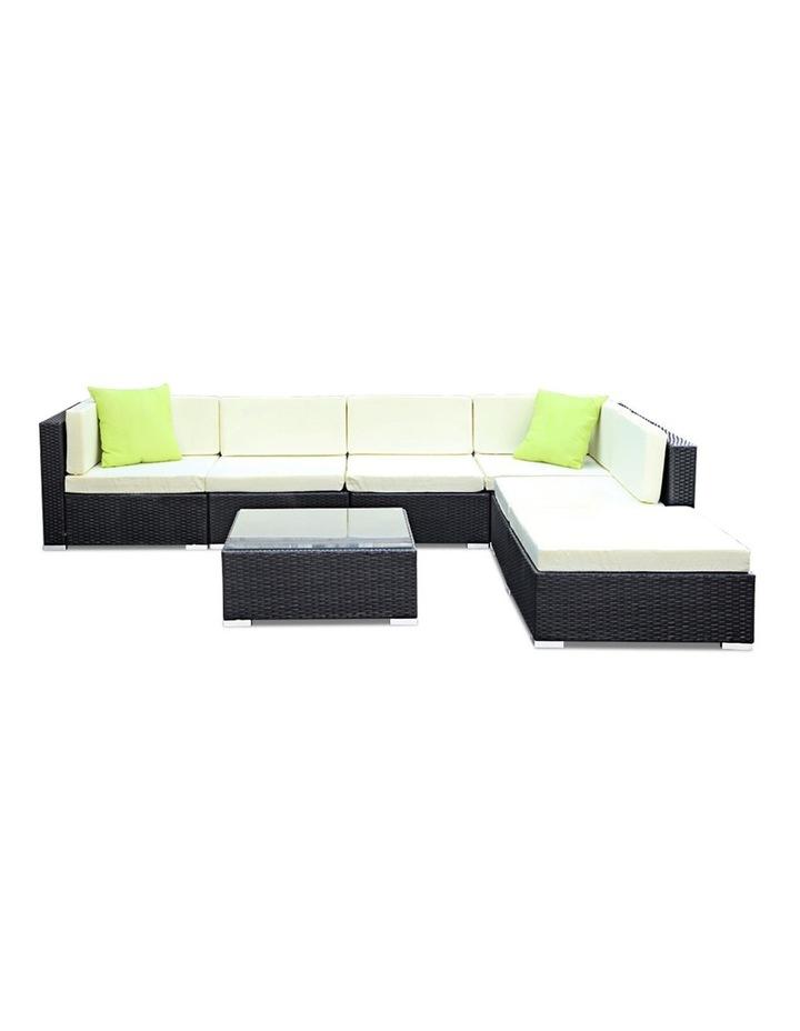 7 Piece Outdoor Furniture Set Wicker Sofa Lounge image 3