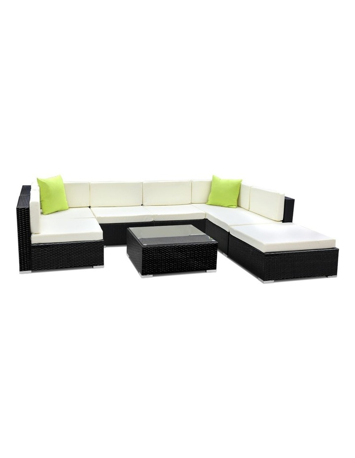 8 Piece Outdoor Furniture Set Wicker Sofa Lounge image 1