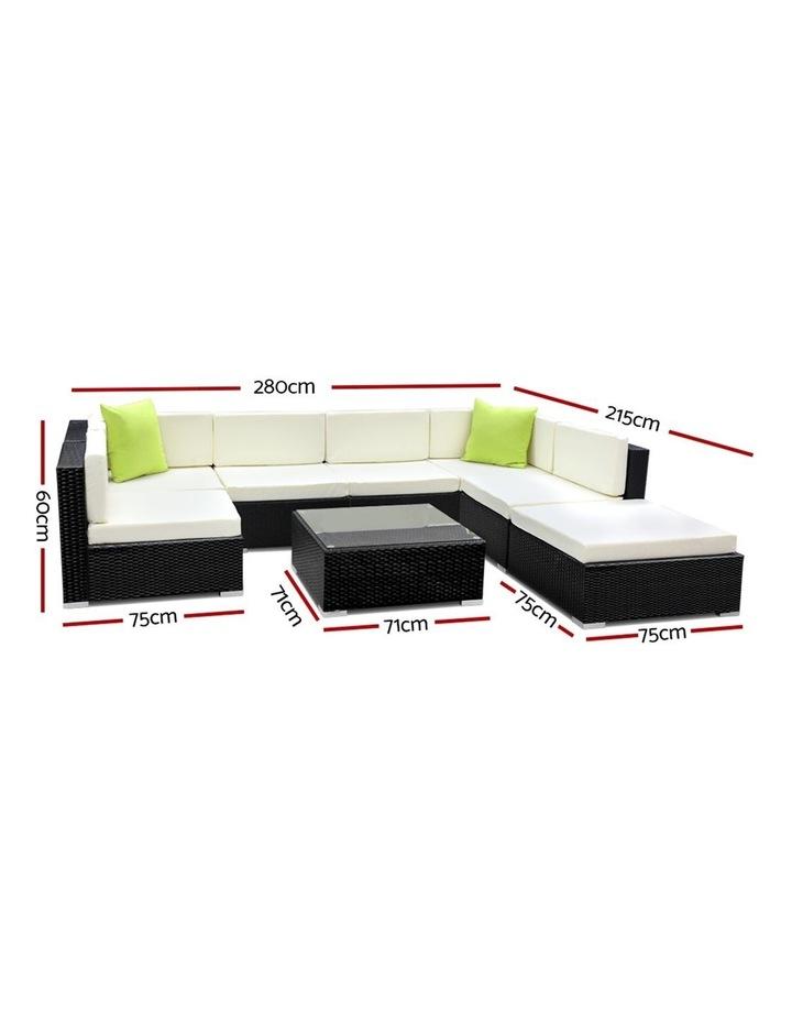 8 Piece Outdoor Furniture Set Wicker Sofa Lounge image 2