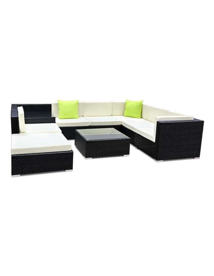 9 Piece Outdoor Furniture Set Wicker Sofa Lounge image 1