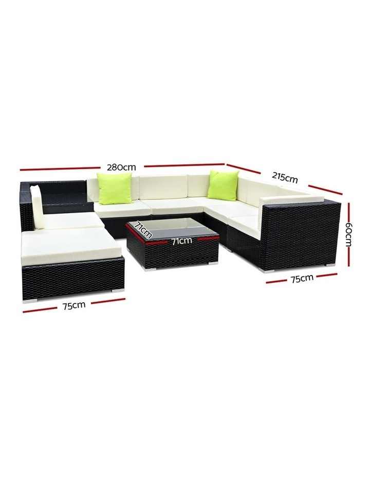 9 Piece Outdoor Furniture Set Wicker Sofa Lounge image 2
