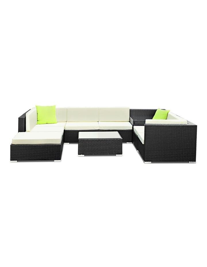 9 Piece Outdoor Furniture Set Wicker Sofa Lounge image 3