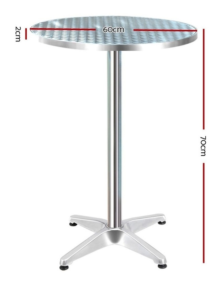 Outdoor Bar Table Aluminium Dining Table Round 70CM image 2