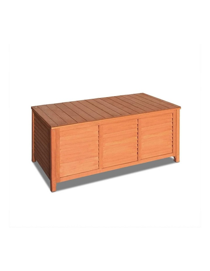 Outoor Fir Wooden Storage Bench image 1
