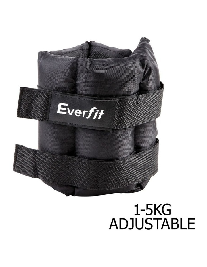 Everfit Set of 2 Wrist Ankle Weights 5kg with Straps image 3
