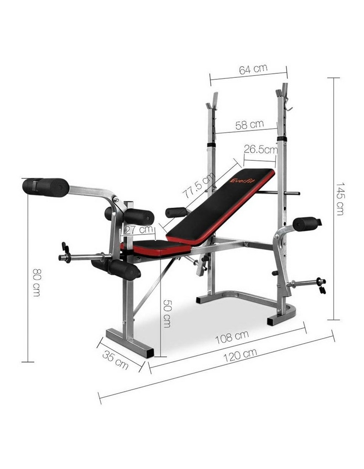 7-in-1 Weight Bench Grey Frame image 2