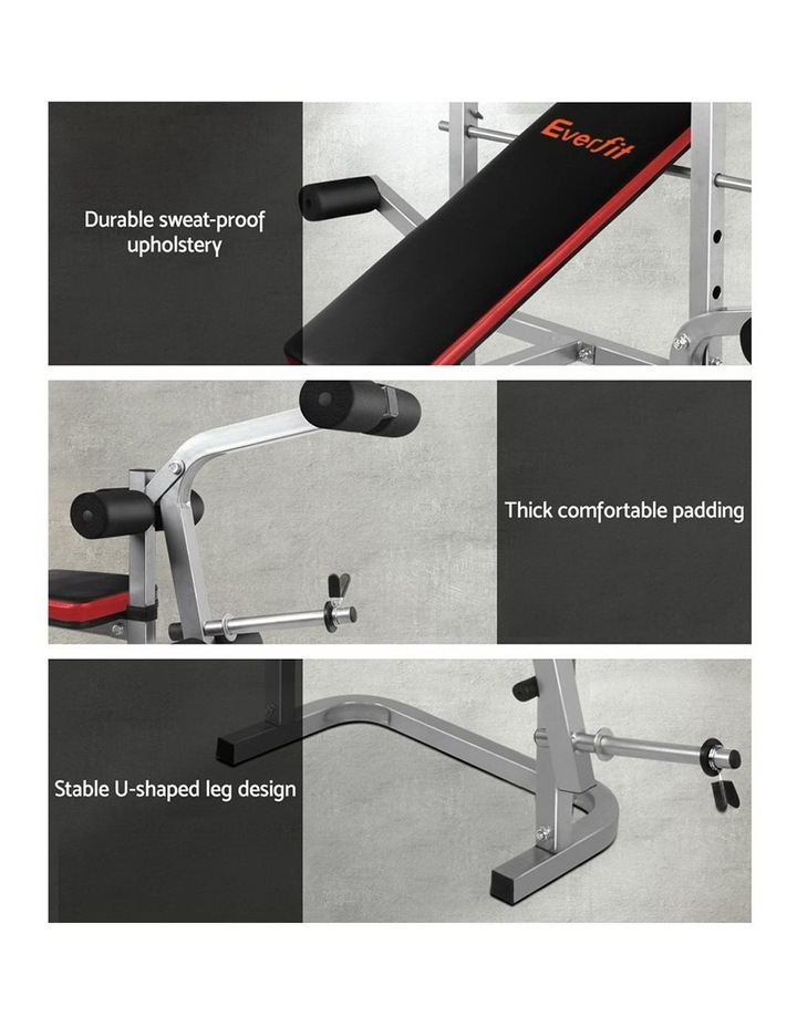 7-in-1 Weight Bench Grey Frame image 3