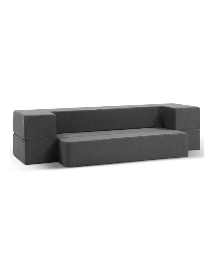 Portable Sofa Bed Folding Mattress Lounger Chair Ottoman Grey image 1