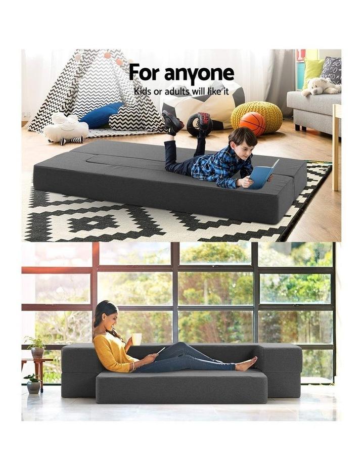 Portable Sofa Bed Folding Mattress Lounger Chair Ottoman Grey image 4