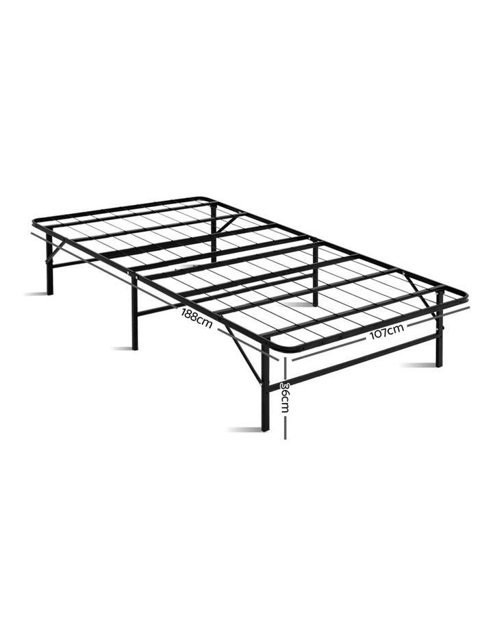 Foldable King Single Metal Bed Frame image 2