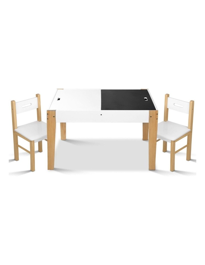 Keezi Kids Table and Chairs Set Chalkboard Toys Play Storage Desk Children Game image 1