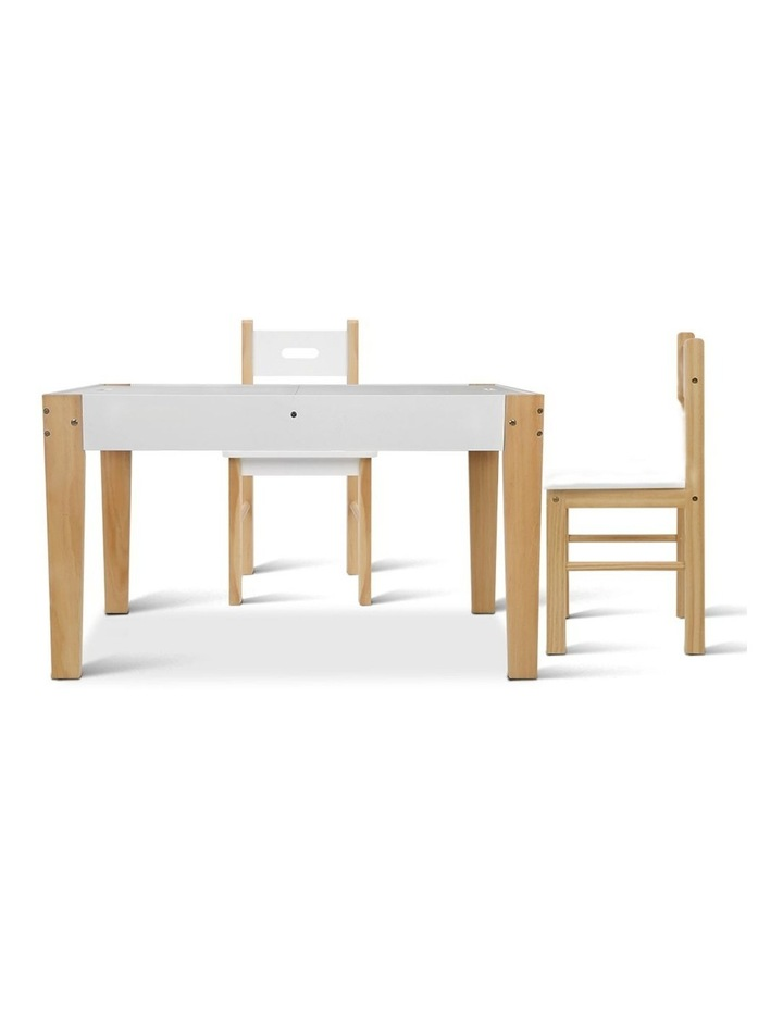 Keezi Kids Table and Chairs Set Chalkboard Toys Play Storage Desk Children Game image 5