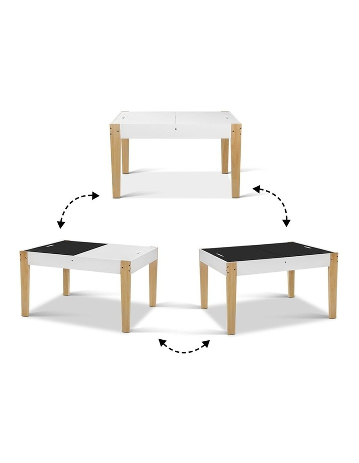 Keezi Kids Table and Chairs Set Chalkboard Toys Play Storage Desk Children Game image 7